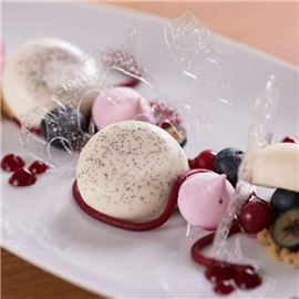 Deconstructed Panna Cotta